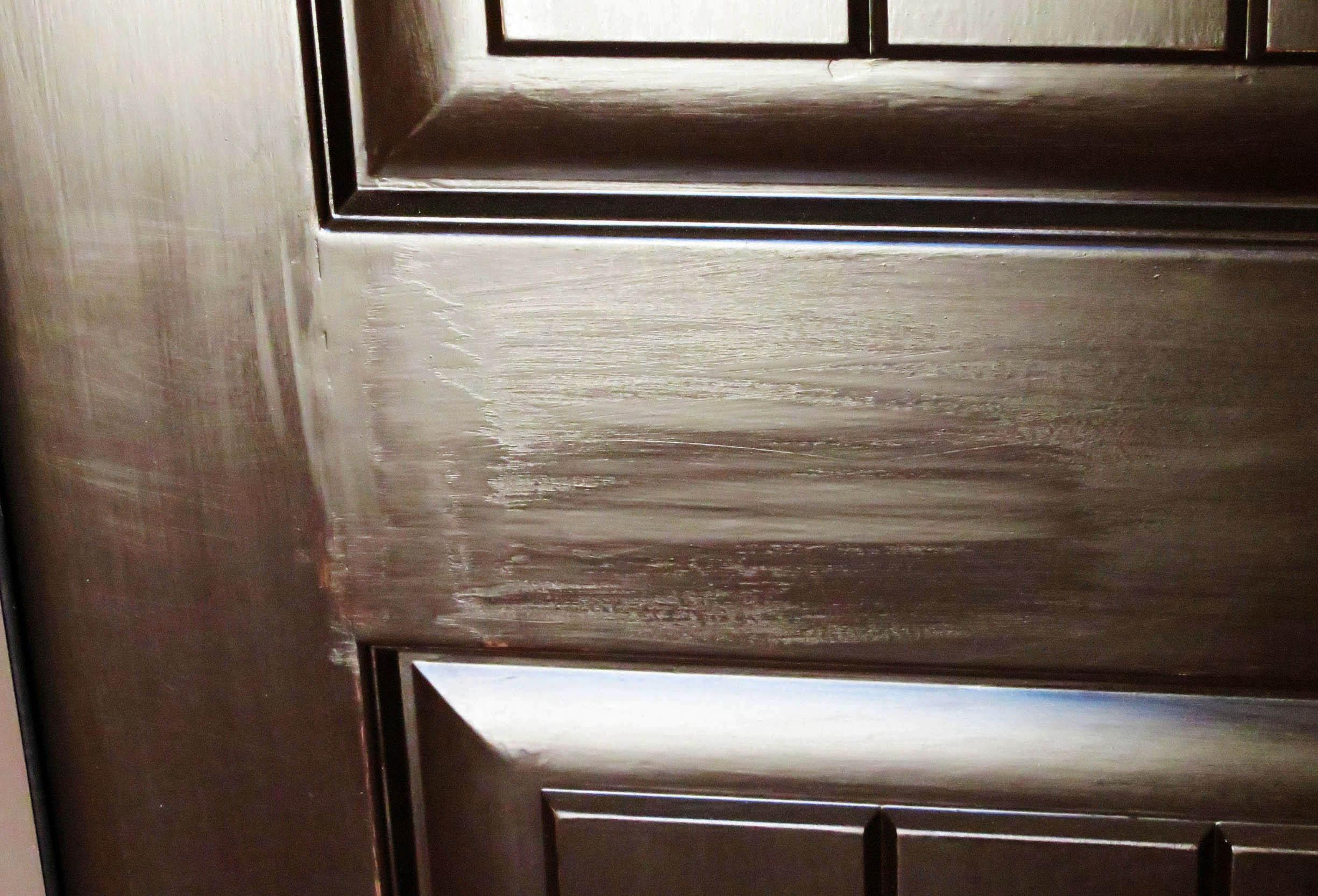 Front door on new home