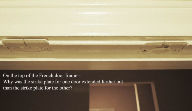 Top of French door frame